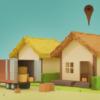引っ越し風景の模型